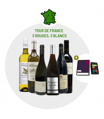 Coffret Dégustation Tour de France - 3 vins blancs - 3 vins rouges