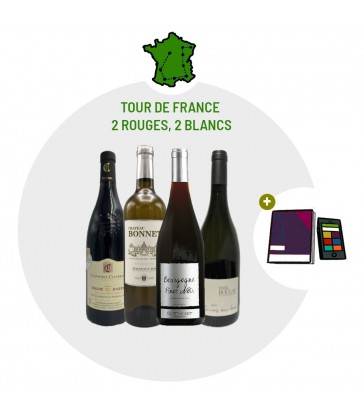 Coffret Dégustation Tour de France - 2 vins blancs 2 vins rouges