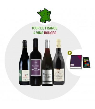 Coffret Vin rouge avec Carte des vins de France