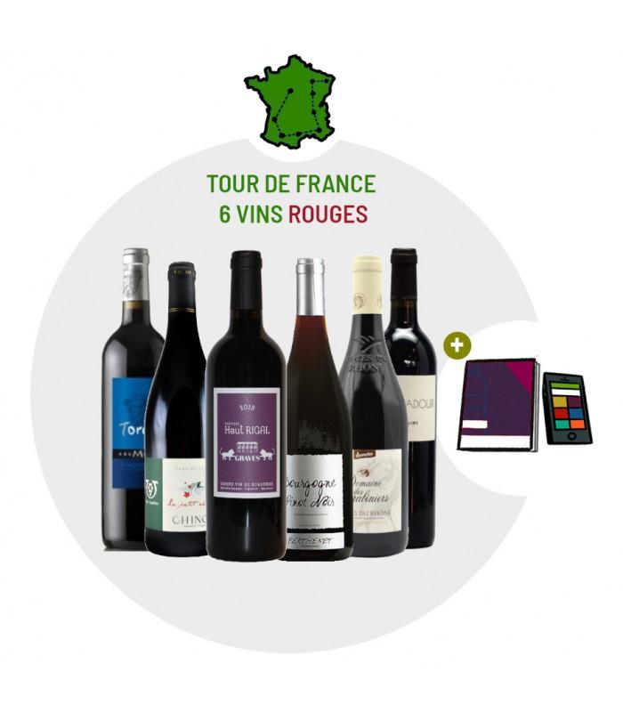 Coffret Dégustation Tour de France en 6 vins rouges