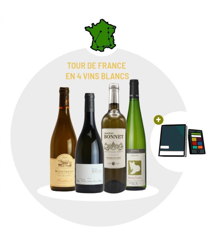 Coffret Dégustation Tour de France en 4 vins blancs