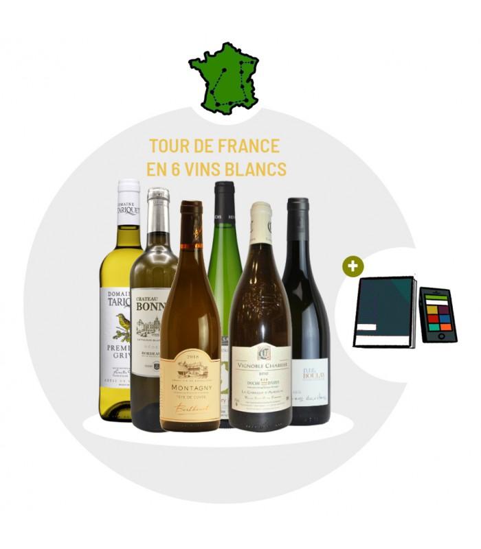 Coffret Dégustation Tour de France en 6 vins blancs