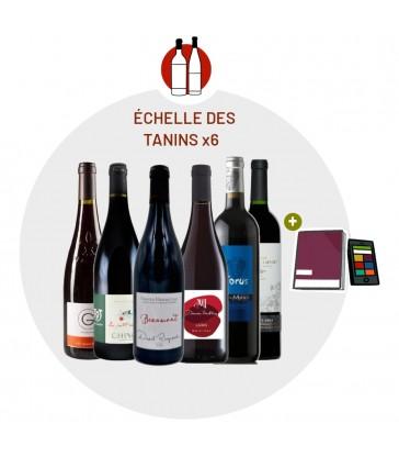 Coffret Dégustation Echelle des Tanins - 6 vins rouges