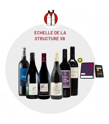 Coffret Dégustation la structure des vins rouges
