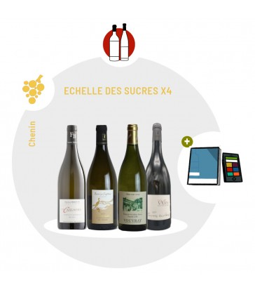 Coffret Dégustation 4 vins blancs cépage Chenin