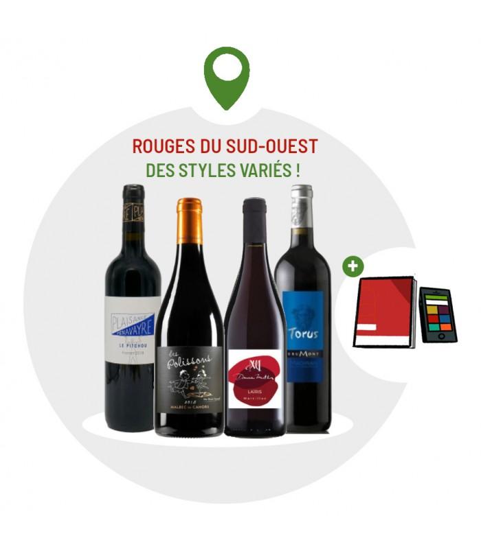 Coffret Dégustation 4 vins rouges du Sud-Ouest