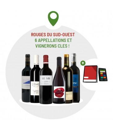 Coffret Dégustation vins du Sud Ouest - 6 vins rouges