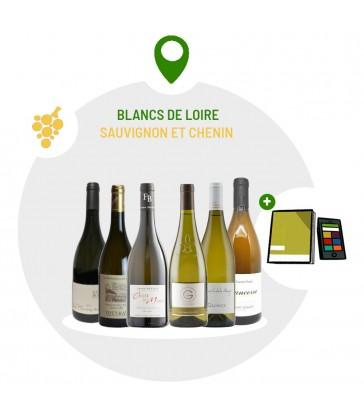 Coffret Dégustation 6 vins blancs secs du Val de Loire