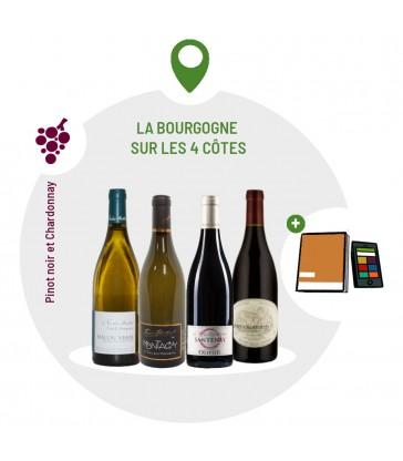 Coffret Dégustation 2 vins rouges 2 vins blancs de Bourgogne