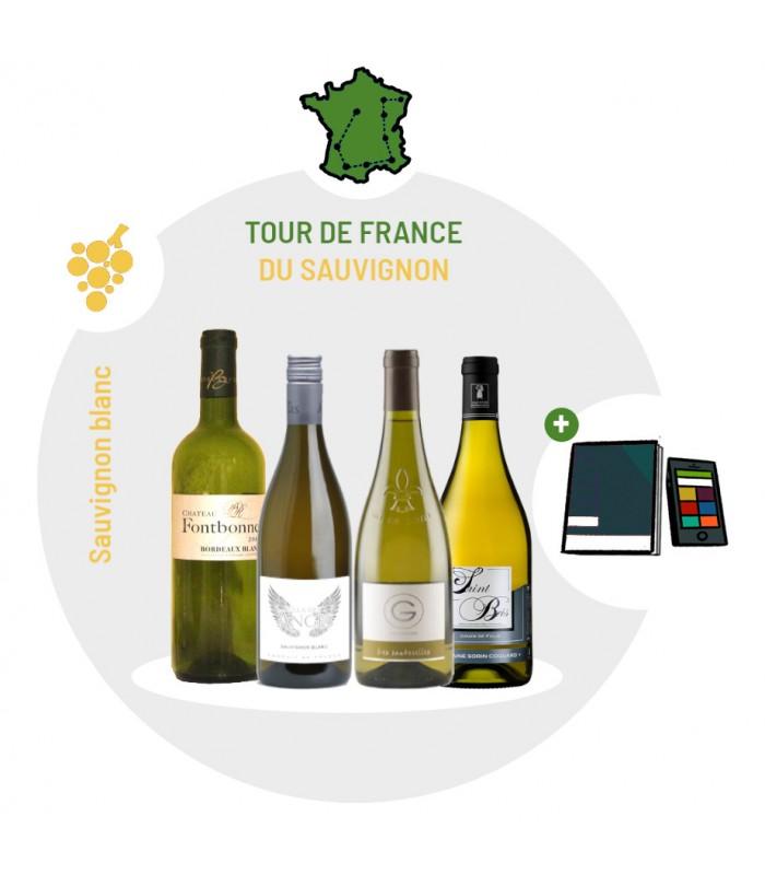 Coffret Dégustation Cépage Sauvignon blanc - 4 Vins blancs