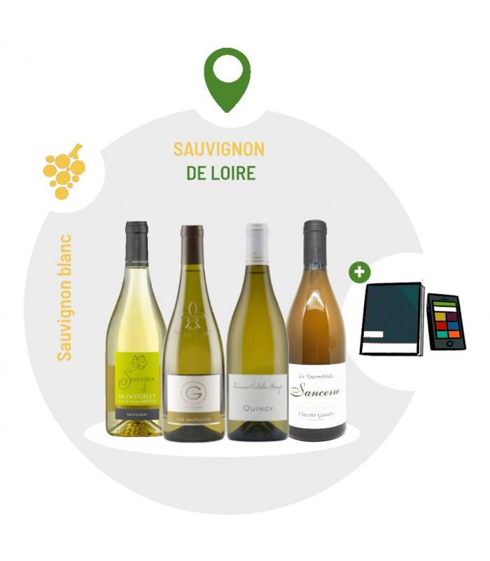 Coffret Dégustation Cépage Sauvignon de Loire - 4 vins blancs