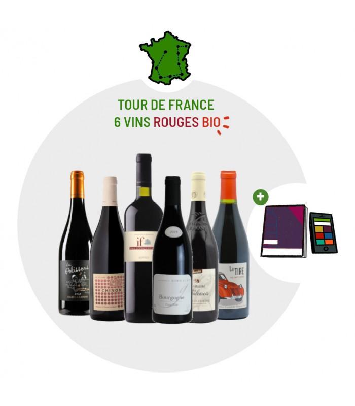 Coffret Dégustation Tour de France - 6 vins rouges Bio