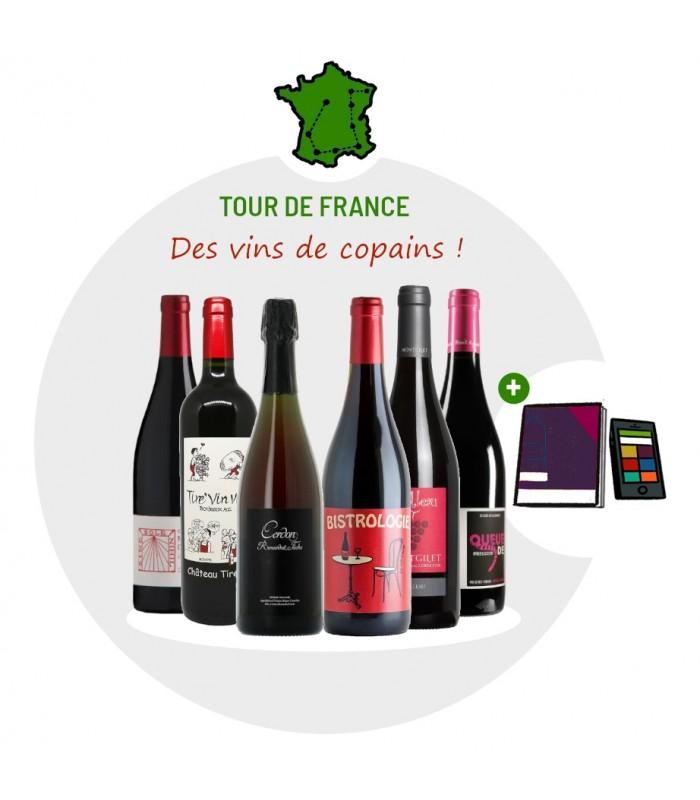 Coffret Dégustation Tour de France des vins de copains - 6 vins rouges