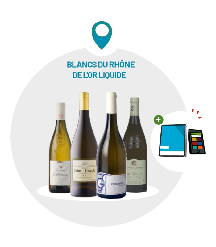Coffret Dégustation 4 vins rouges Vallée du Rhône meridionale