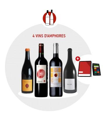 Coffret Dégustation 4 vins rouges Amphores