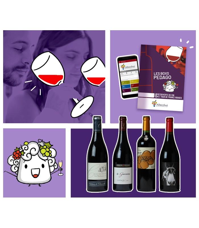 """Cadeau à la box vin par Abonnement """"découverte du Vin"""""""