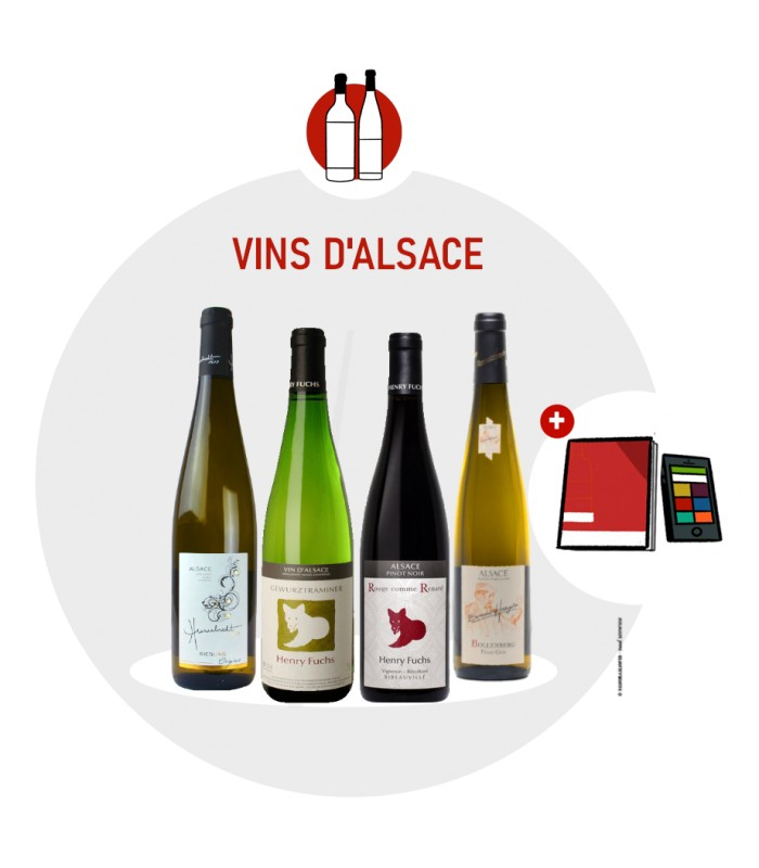 Coffret Degustation Alsace - 4 vins