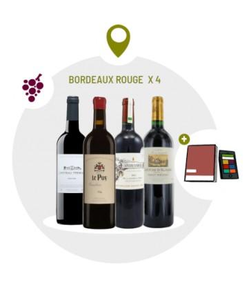 Coffret Dégustation 4 vins rouges du Bordelais