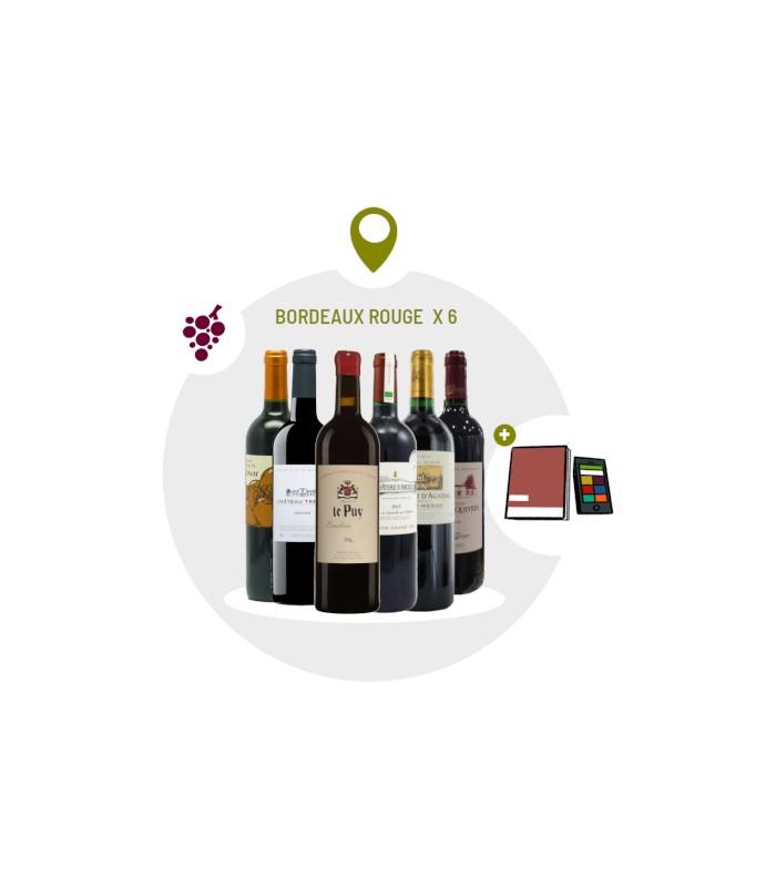 Coffret Dégustation 6 vins rouges du Bordelais