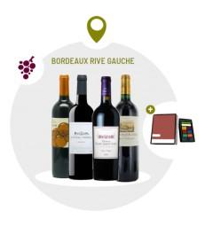 Coffret Bordeaux Rive Gauche - 4 Vins Rouges