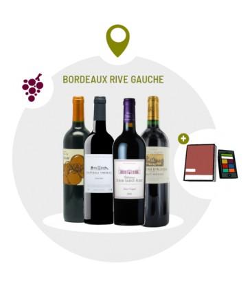 Coffret Dégustation 4 vins rouges Rive Gauche Bordelais