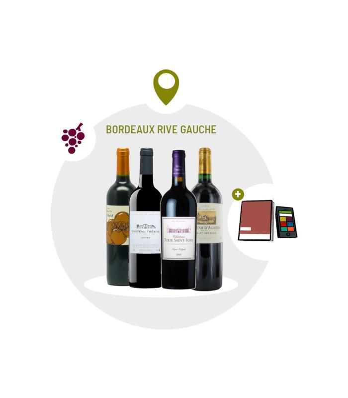 Coffret Dégustation 4 vins rouges Rive Gauche du Bordelais