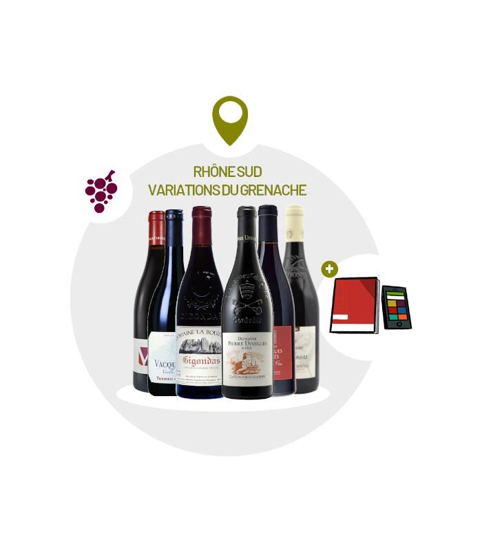 Coffret Dégustation 6 vins rouges du Sud Rhône