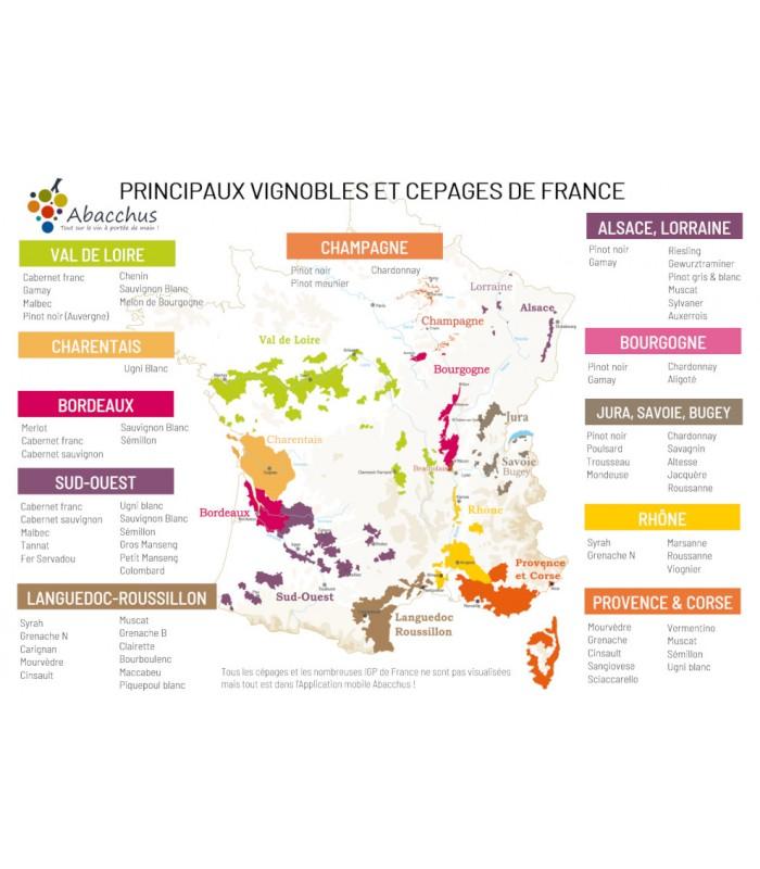 Mini set de table Carte de France et Dégustation