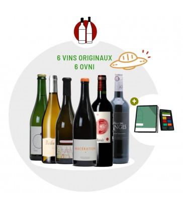 Coffret Dégustation 6 vins blancs et rouges originaux et insolites