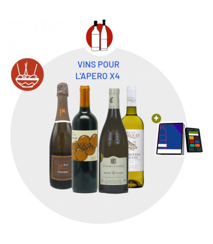 Coffret Dégustation accords 4 Vins et Apéritif