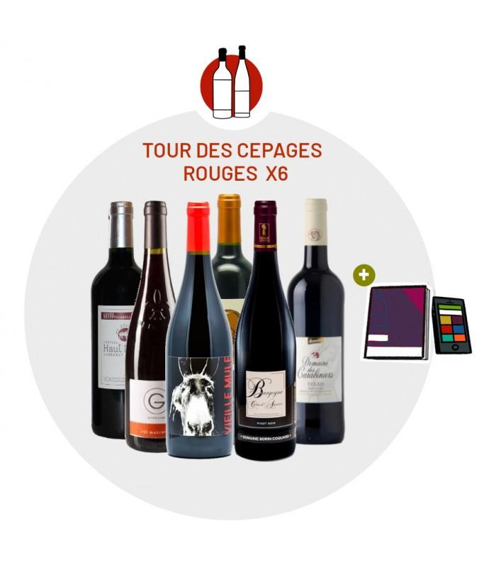 Coffret Dégustation Cépages 6 vins rouges