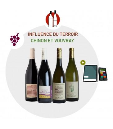 Coffret Dégustation Terroir - 2 vins blancs Vouvray - 2 vins rouges Chinon