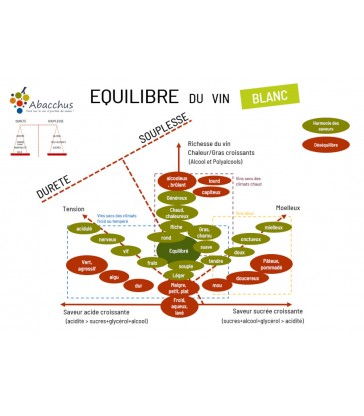 Mini set de table Equilibre des vins blancs et rouges