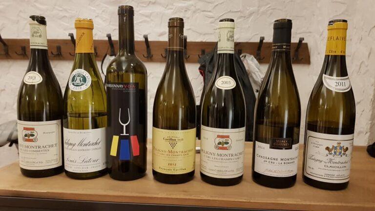 dégustation de 6 vins de Puligny-montrachet