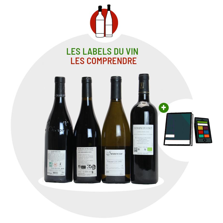 Coffret Labels vin bio