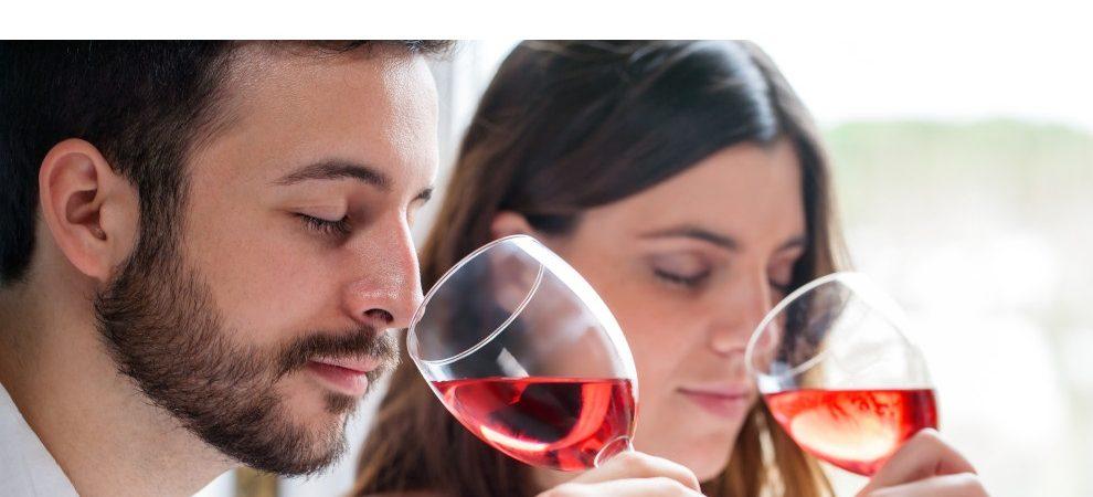 2 personnes dégustent du vin