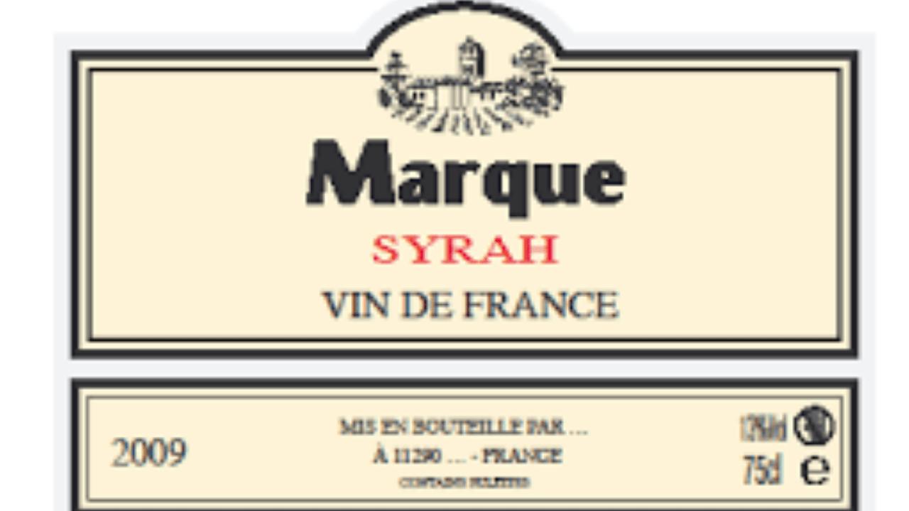 etiquette vin de france