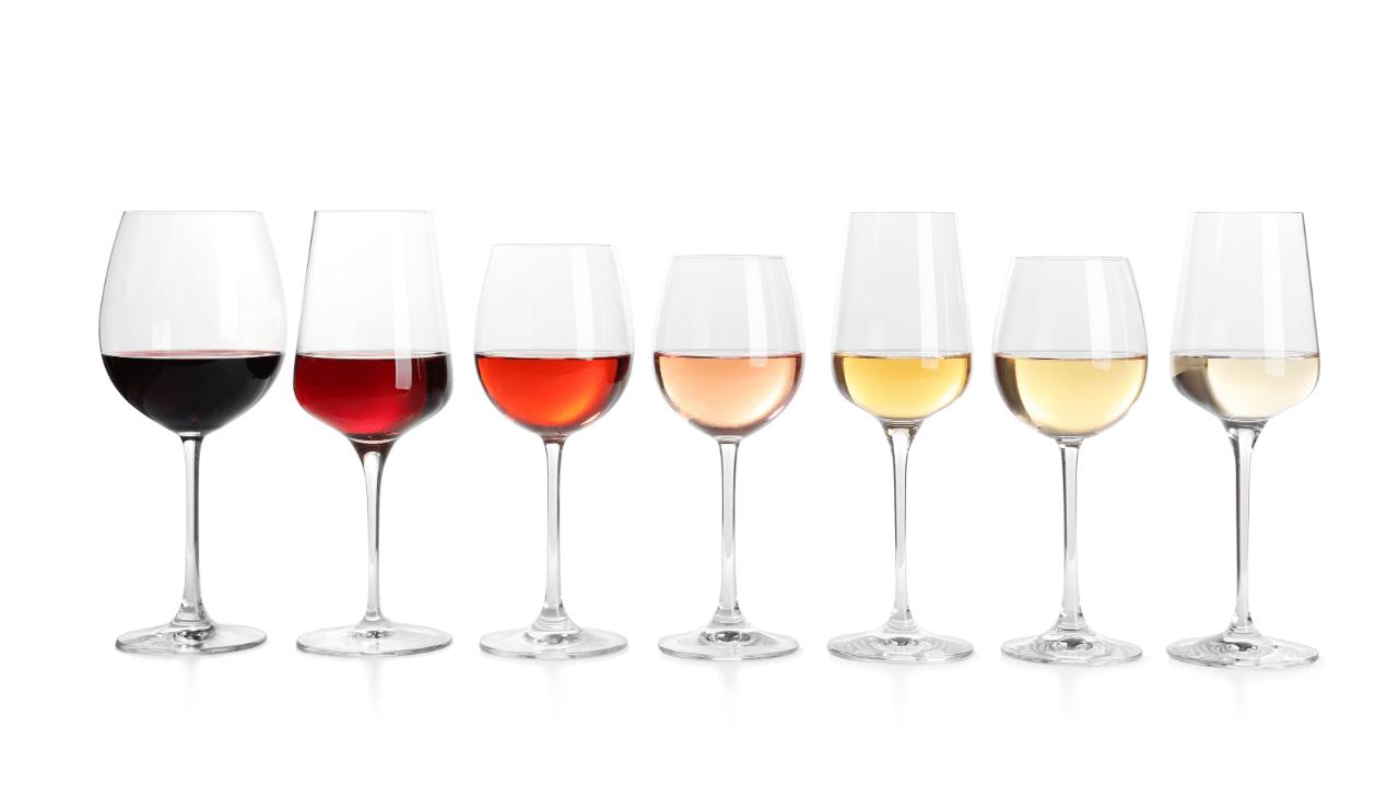 7 verres de vins différents