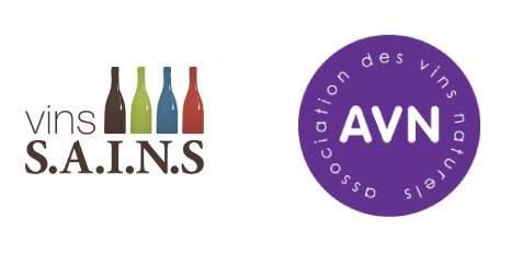 logos des 2 associations de vins naturels