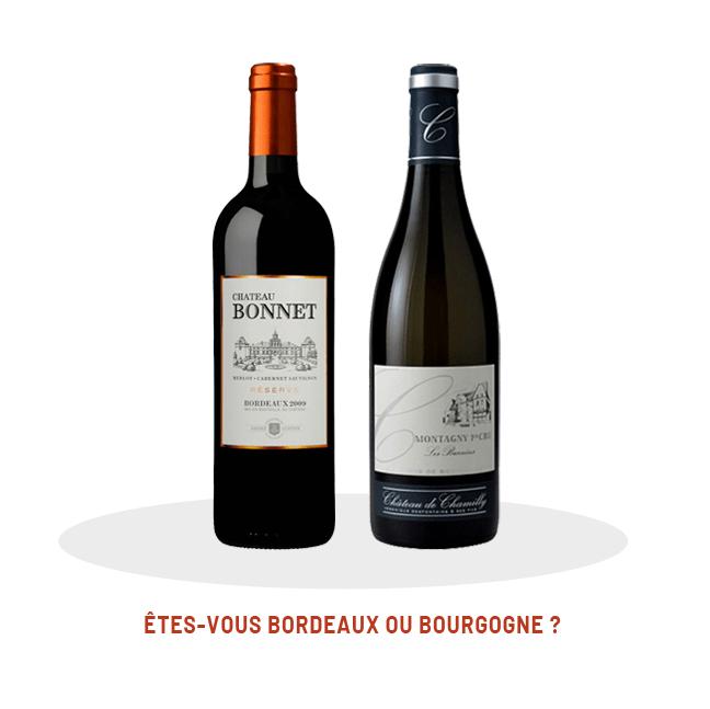 Battle vin abacchus Bordeaux ou Bourgogne