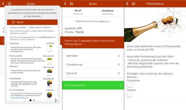 Quizz Appli mobile Abacchus