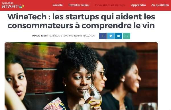 Article les Echos sur les startups qui aide a comprendre le vin