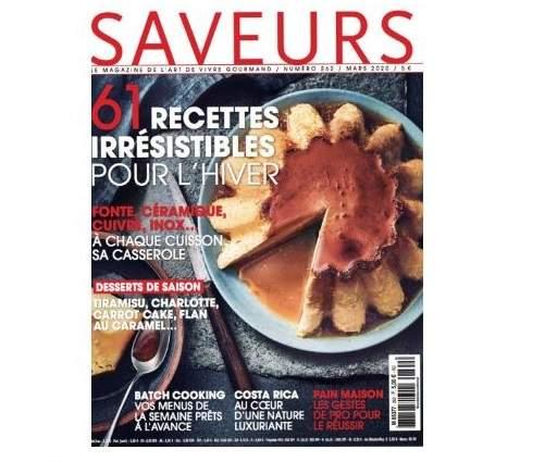 Magazine Saveur parle des Coffrets dégustation Abacchus
