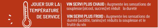 Jouer sur la temperature des vins